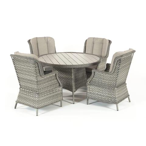 Porto Fino 4 Seat Dining Collection - 41.3x27.55x37.4