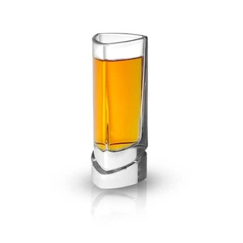 JoyJolt Triangle Aqua Vitae 1.5oz Crystal Shot Glasses, Set of 4