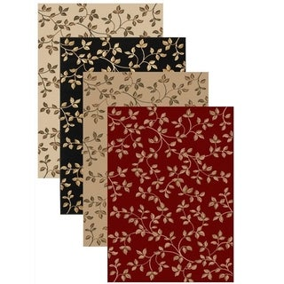 Olefin Virginia Floral Rug (3'3 x 4'11) - 3'3 x 4'11