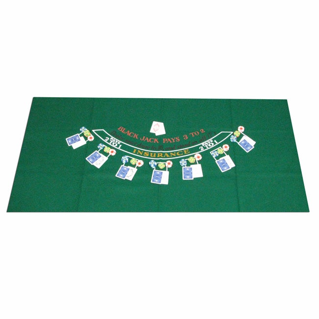 Green Blackjack Felt Layout