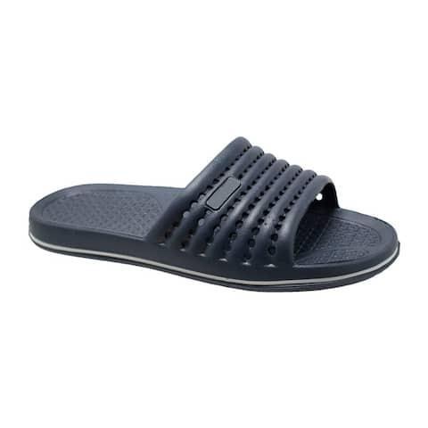 Mens EVA Comfort Slip On Sandal Navy Blue