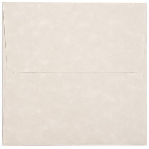 """48x Parchment Paper Square Envelopes for Invitations Greeting Cards Cream 5.5"""""""
