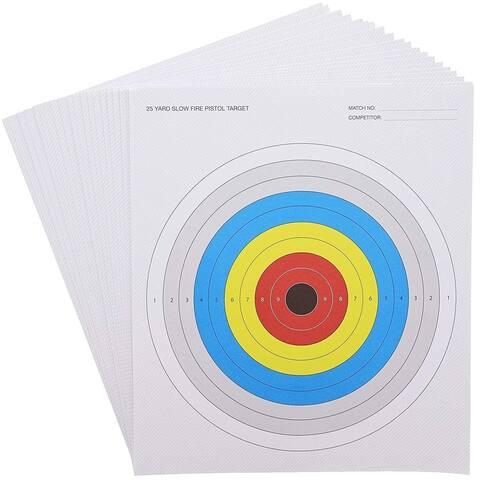 "50x Paper Shooting Targets for the Range for Firearms Bullseye 10.5 x 12"""