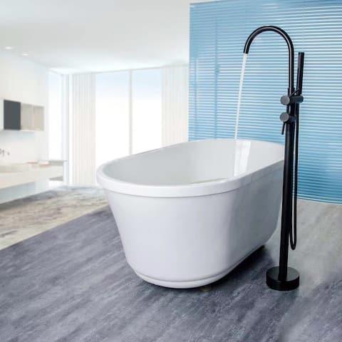 Double Handle Floor Mounted Freestanding Tub Filler Trim