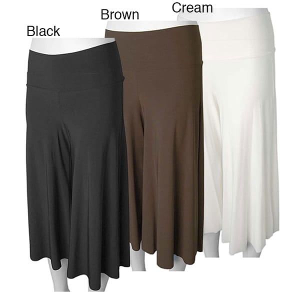 Adi Designs S Max Solid Gaucho Pants