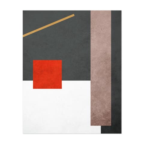Abstract Geometric Shapes Unframed Wall Art Print/Poster