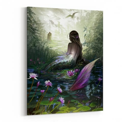 Books Cg Artwork Coastal Fairy Tale Canvas Wall Art Print