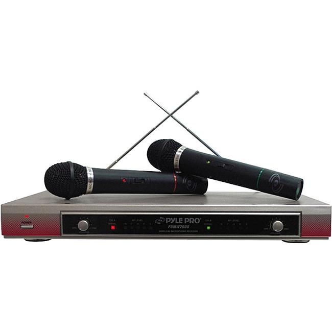 PylePro Dual VHF Wireless Microphone System
