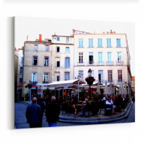 Montpellier France Building Mixed-use Canvas Wall Art Print