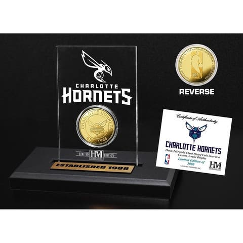 Charlotte Hornets Gold Coin Acrylic