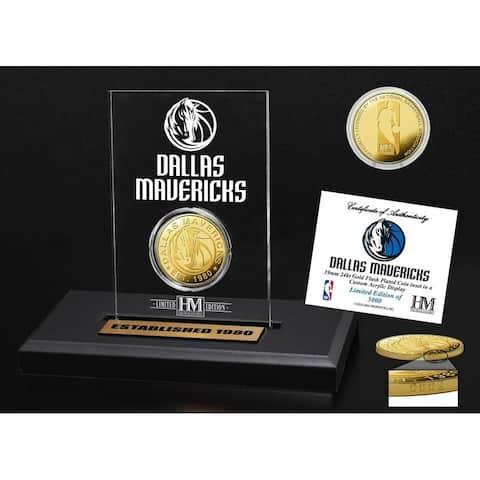 Dallas Mavericks Gold Coin Acrylic