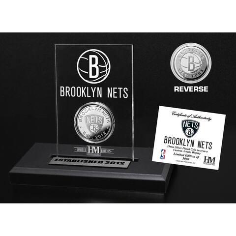 Brooklyn Nets Silver Coin Acrylic