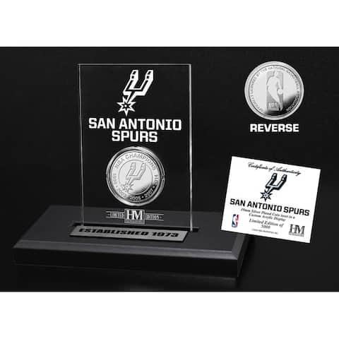 San Antonio Spurs Silver Coin Acrylic