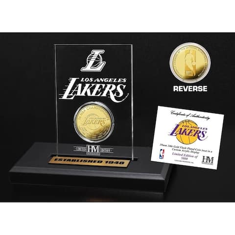 Los Angeles Lakers Gold Coin Acrylic