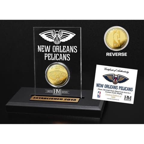 New Orleans Pelicans Gold Coin Acrylic