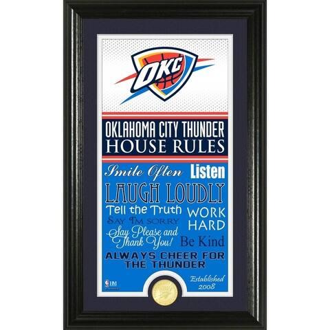 "Oklahoma City Thunder ""House Rules"" Bronze Coin Photo Mint"