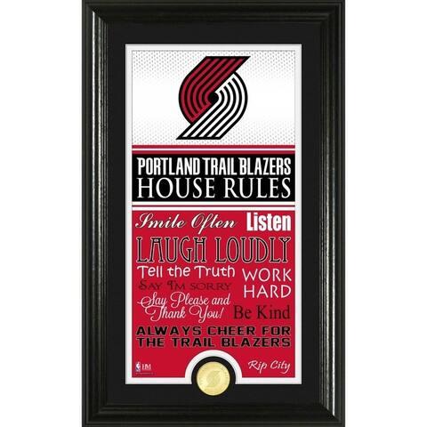 "Portland Trail Blazers ""House Rules"" Bronze Coin Photo Mint"