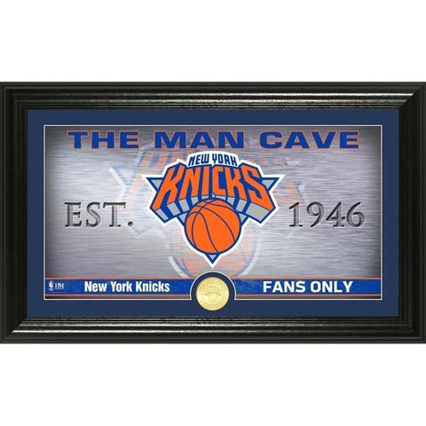 "New York Knicks ""Man Cave"" Bronze Coin Panoramic Photo Mint"