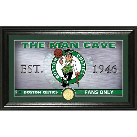 "Boston Celtics ""Man Cave"" Bronze Coin Panoramic Photo Mint"