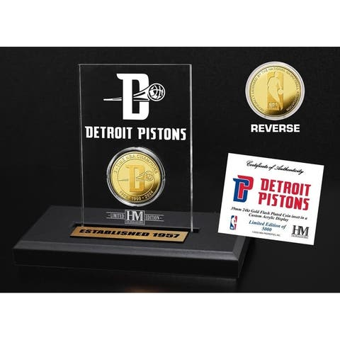 Detroit Pistons Gold Coin Acrylic