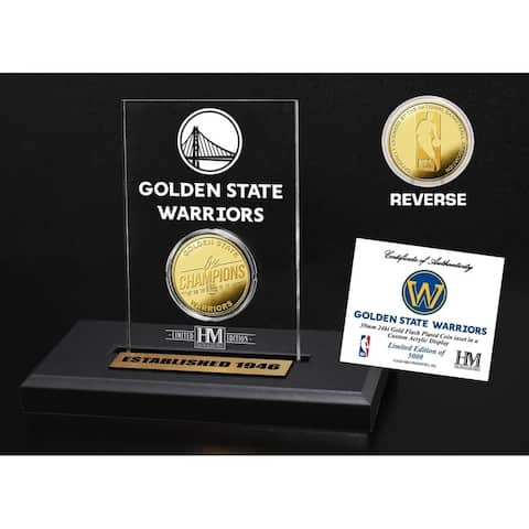 Golden State Warriors Gold Coin Acrylic
