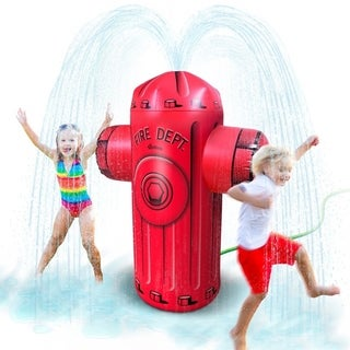 Link to GoFloats Giant Inflatable Fire Hydrant Party Sprinkler  Similar Items in Outdoor Play
