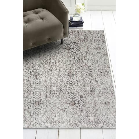 ReaLife Machine Washable, Eco-Friendly Mosaic Tile Rug