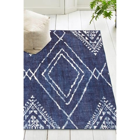 ReaLife Machine Washable, Eco-Friendly Moroccan Diamond Rug
