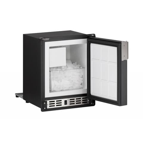 SP18 Ice Maker 14 inch Marine Black w/Travel Pin & Flange - Marine - Reversible - Compact