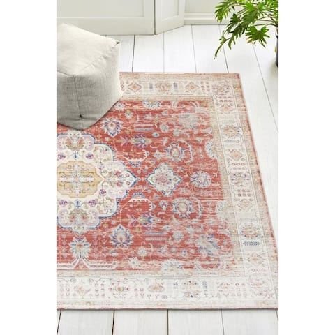 ReaLife Machine Washable, Eco-Friendly Persian Distressed Rug