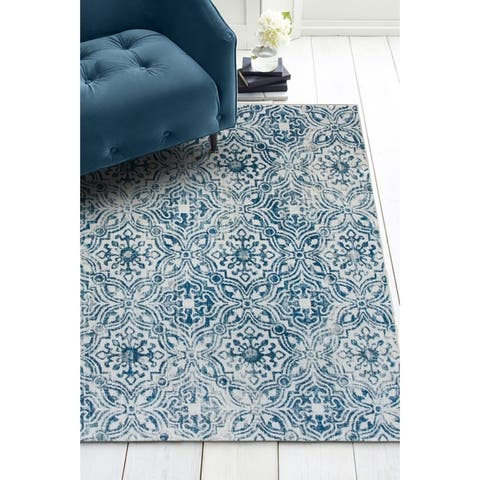 ReaLife Machine Washable, Eco-Friendly Mosaic Tile Rug