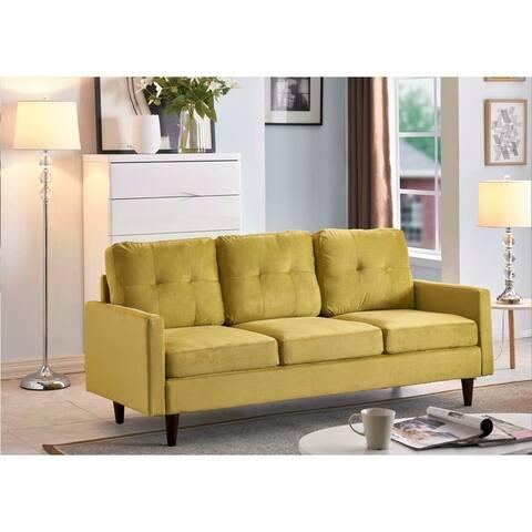 Russal Modern Velvet 3 Seater Sofa