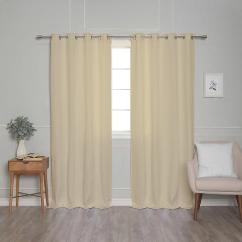 Aurora Home Oxford Outdoor Curtains - GROM_OUTDOOR
