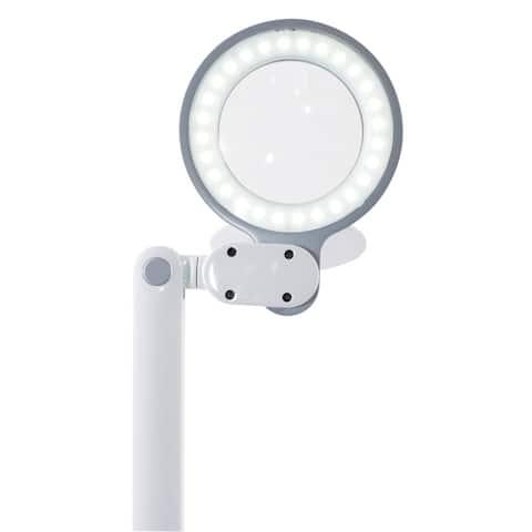 OttLite Space-Saving LED Magnifier Desk Lamp