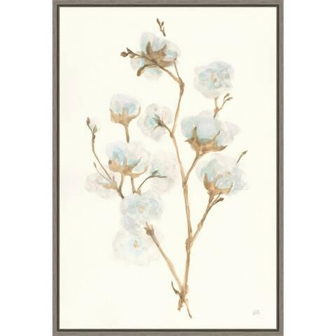 Canvas Art Framed 'Summer Cotton' by Chris Paschke 16 x 23-inch