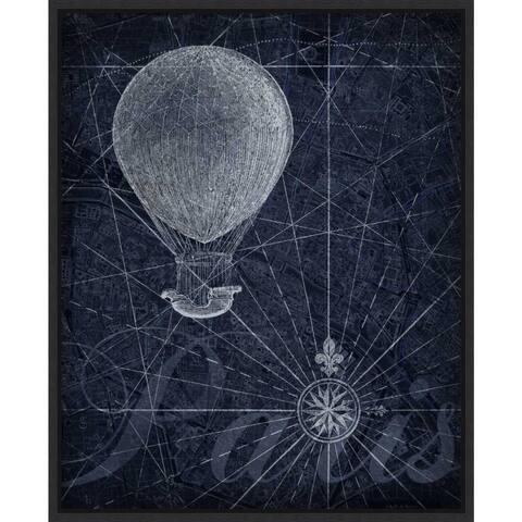 Canvas Art Framed 'Hot Air over Paris Balloon' by Art Roberts 16 x 20-inch