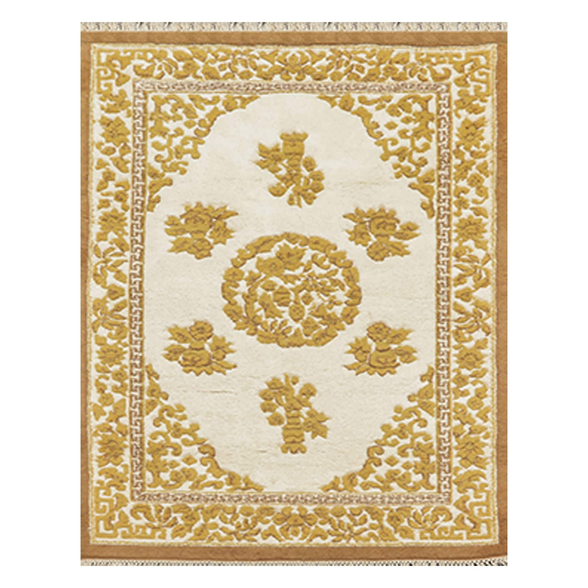 Shop For Kerman Hand Knotted Beige Mustard Wool Persian Oriental Area Rug 4 X5 11 4 1 X 6 2 Get Free Shipping On Everything At Overstock Your Online Home Decor Outlet Store Get 5 In Rewards With Club O 31149308