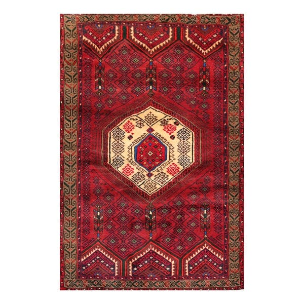 Tribal Hand Knotted Rusty Red Ivory Wool Oriental Area Rug 4 2 X6 3 4 1 X 6 2 Overstock 31149314