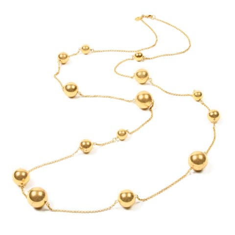 Gold Chain Large Ball Necklace