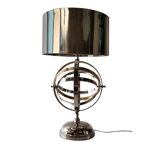 Aluminum Armillary Table Lamp