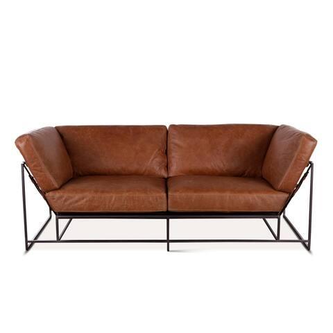 Portlando Colombian Brown Leather Sofa