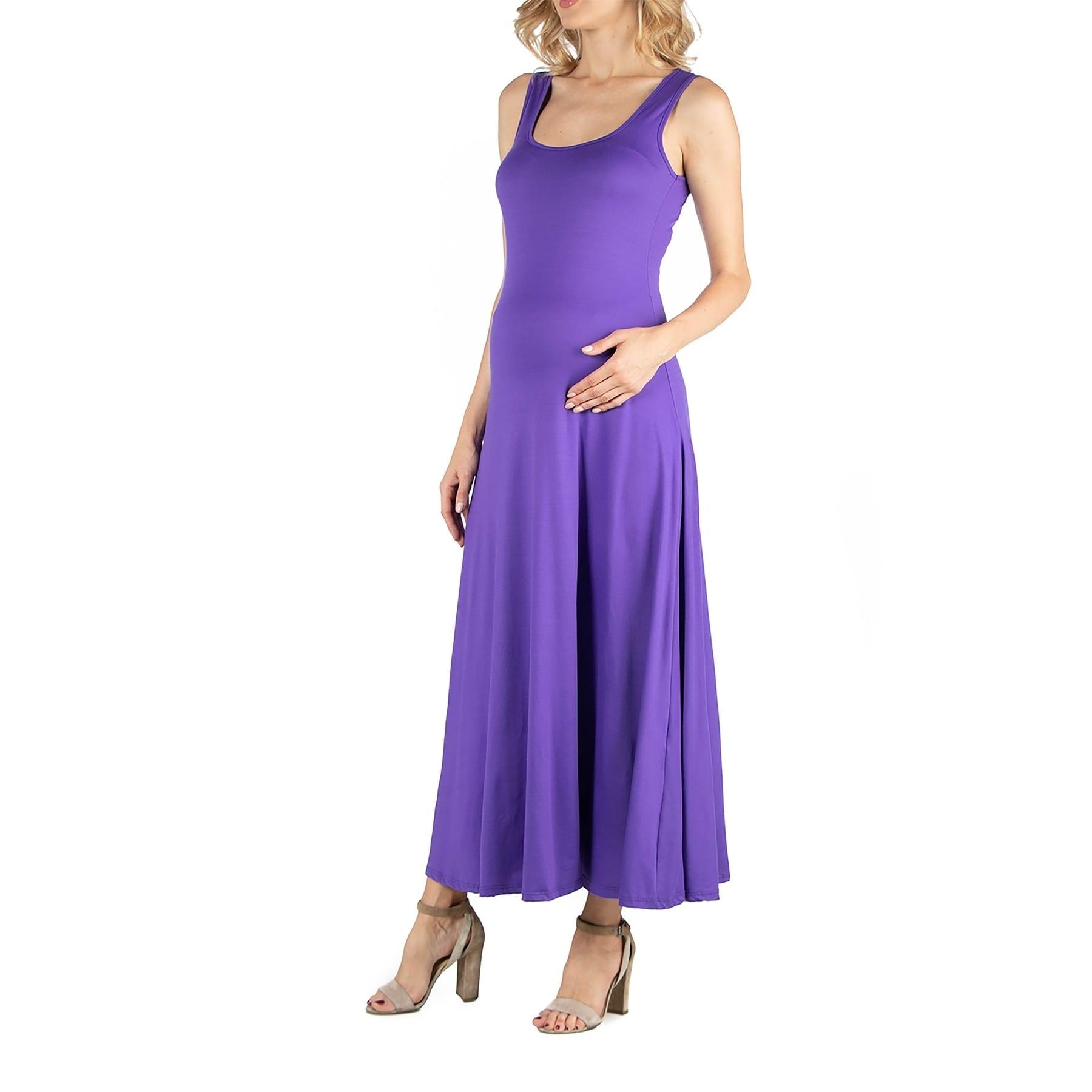 Slim Fit A Line Sleeveless Maternity Maxi Dress Overstock 31149699