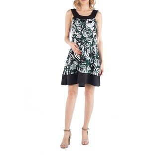 Geometric Circlet Pattern Sleeveless Maternity Dress