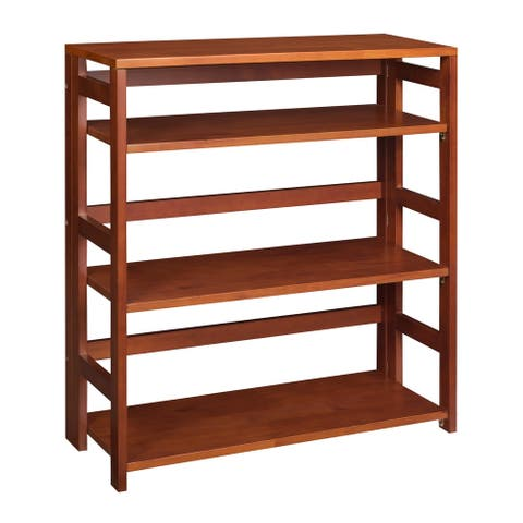 "Fairway 34"" High Folding Bookcase- Royal Cherry"