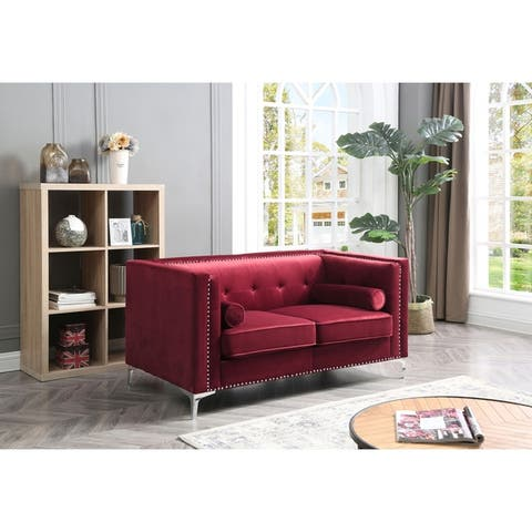 Capua Velvet Tufted Loveseat