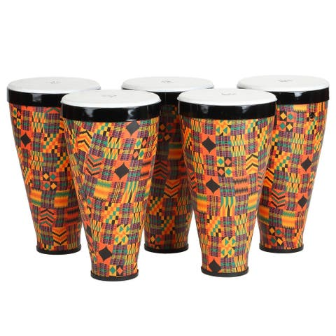 Stacking Hand Drums with Straps, 5-Pack Small
