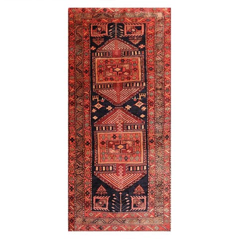 """Hand Knotted Charcoal,Camel Wool Persian Oriental Area Rug (3'10''x8'6'') - 4'1"""" x 6'2"""""""