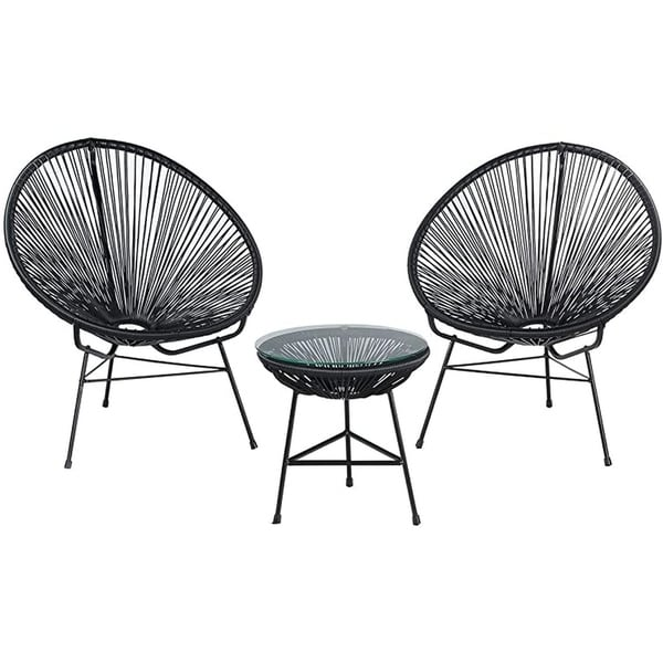 Modern Outdoor Gia Rattan Chair-Set 3. Opens flyout.