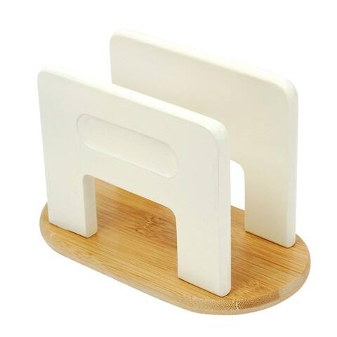 Creative Home Off White Bamboo Napkin Holder