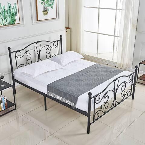 Vintage Metal Platform Bed Frame